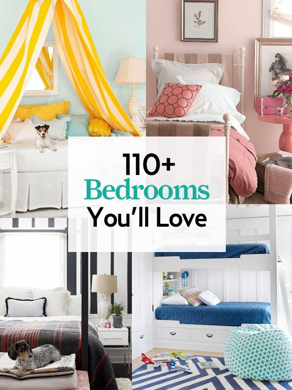 Our guide to bedroom design is jam-packed with more than 100 decorating tips and tricks.    #bedroom #decorating