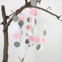 Papieren slinger pastel dots