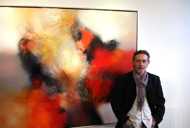 Eelco Maan I lyrical abstract paintings I Galerie In de oude school, 2013
