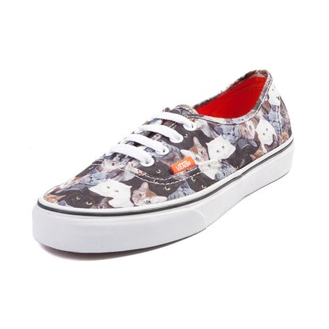 Shop for Vans x ASPCA Authentic Kitty Cat Skate Shoe in Multi at Journeys Shoes. Shop today for the hottest brands in mens shoes and womens shoes at Journeys.com.Stand up for the all the cute, furry, and awesome kitty cats out there with this ASPCA edition Vans Authentic! Trendy cat graphic textile upper with an orange contrast lining and ASPCA print footbed. Classic lace closure and vulcanized rubber sole with waffle tread.