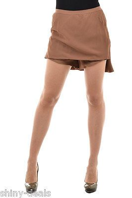 RICK OWENS New Woman Brown LOTUS SHORTS Hot Pants Trousers Skort Size 40 IT NWT