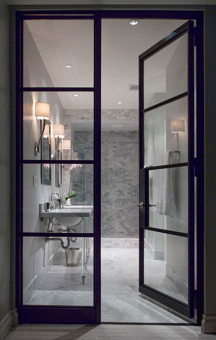 Expand a small space with gorgeous, oversized glass doors.