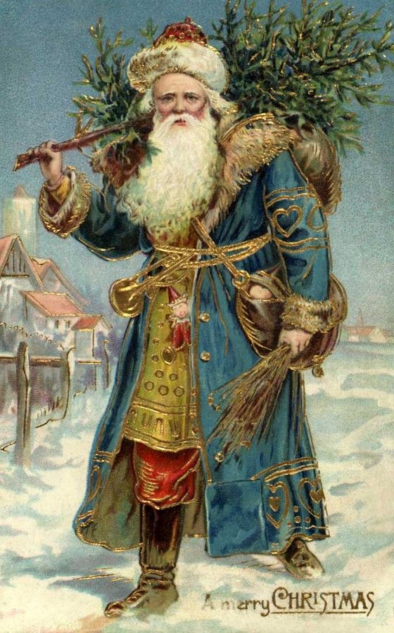 Old Christmas Post Сards — Santa Claus (560x900):