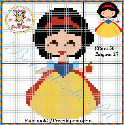 Disney Snow White cross stitch.