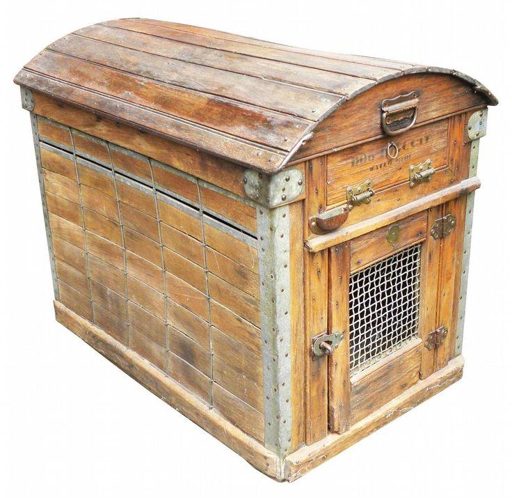 56 best palletize images on pinterest furniture pallet for Pallet dog crate
