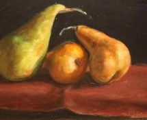 The finished work - Three make a Pear by Philip Turton