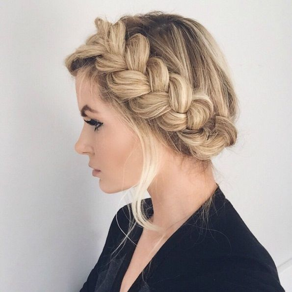 curly fade hairstyle : ... Crown Braids on Pinterest Milkmaid braid, Half crown braids and Hair