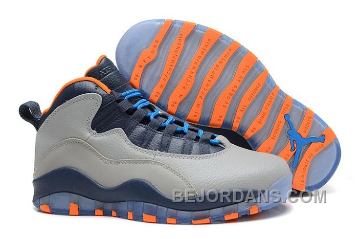 "Discover the Air Jordans 10 Retro ""Bobcats"" Wolf Grey/ Slate-Atomic Orange-Dark  Powder Blue New Release group at Footlocker. Shop Air Jordans 10 Retro "" ..."