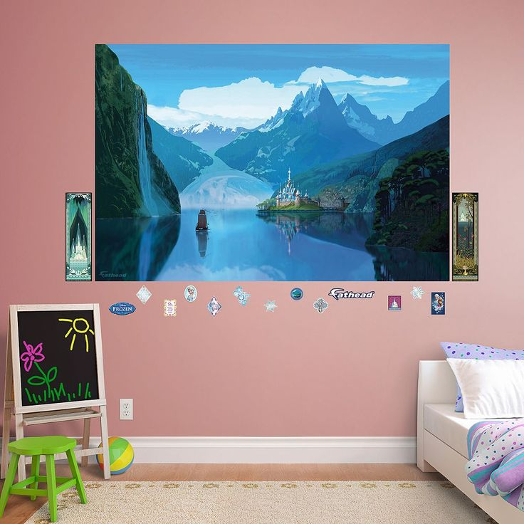 Disney's Frozen Arendelle Mural Wall Decal by Fathead, Multicolor