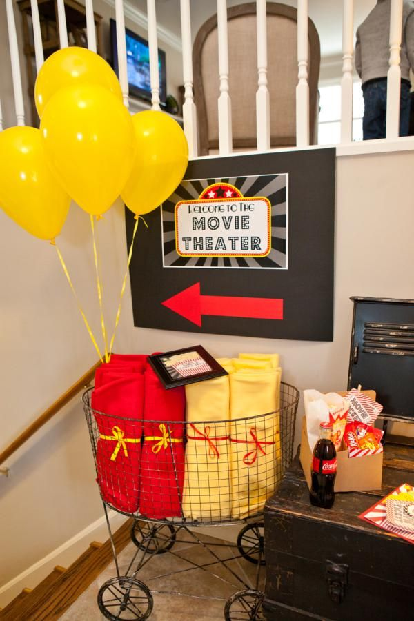 """This is a party idea but it would be fun to have some special """"movie theater"""" supplies that came out once a month or so for a family movie night- popcorn in special containers, mini candy bars, tickets, etc. You could mix this with themed movie extras like goldfish for Nemo or pizza bites for Toy Story."""