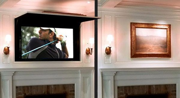 Tv Coverup, ideas shared through Freshome. http://freshome.com/2012/08/16/hide-your-flat-tv-behind-your-favourite-artwork-the-tv-coverup/#