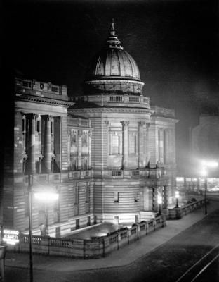 The Mitchell Library, Glasgow, Scotland is one of Europe's largest public libraries with over one million items of stock and is the hub of a city-wide information service.  With its distinctive green dome, the building has been one of the city's iconic landmarks since it opened in 1911.  Photo: theglasgowstory.com
