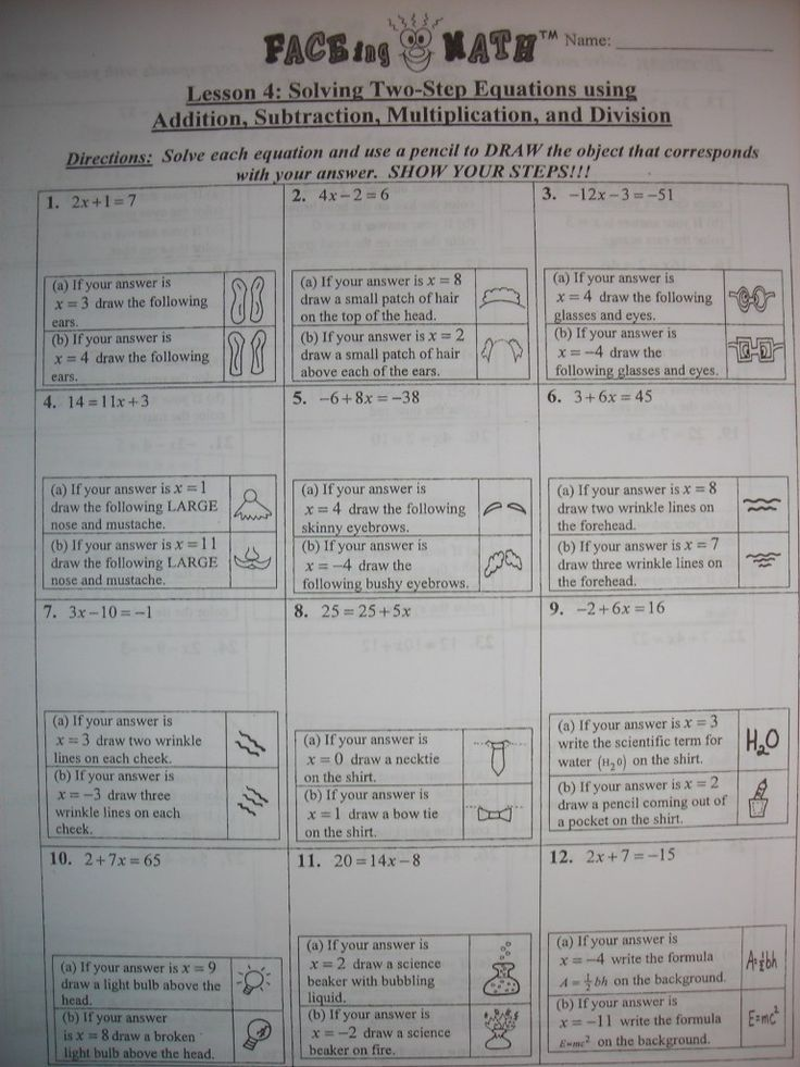 Best 3040 education images on pinterest school classroom ideas faceing math activity fun for equation review could also work with inequalities and fandeluxe Images