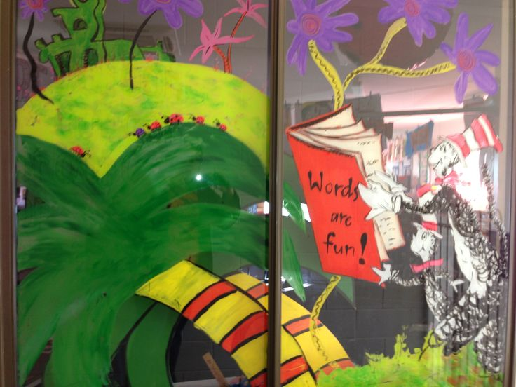 Dr Seuss themed window