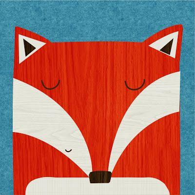 Fox card by Rebecca Elliott.