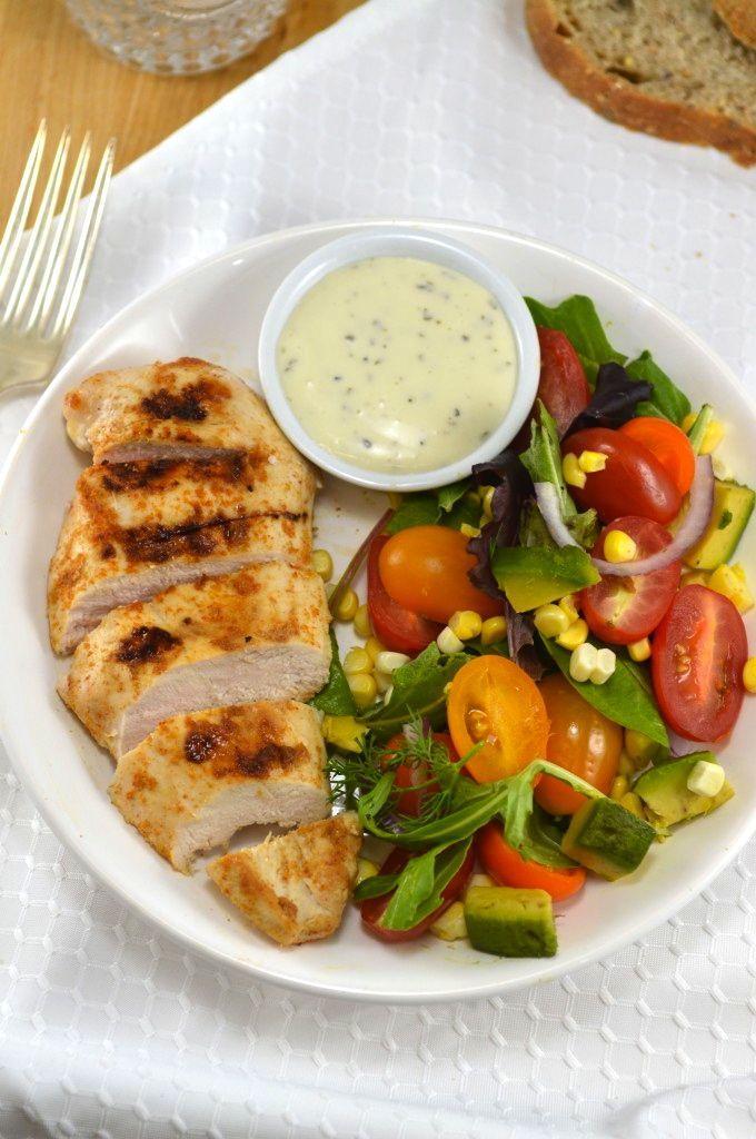 avocado salad dressing bbq chicken salad with creamy avocado dressing ...