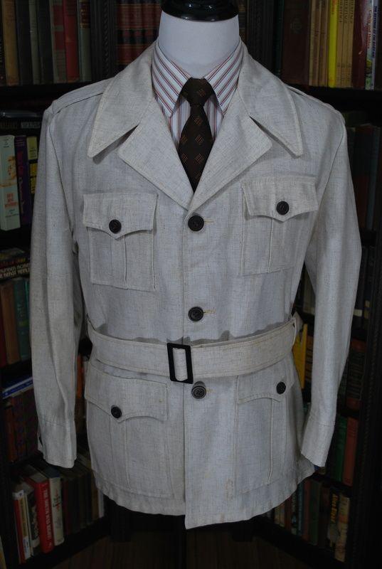 fabulous vintage safari jacket in a linen like fabric