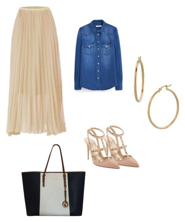 """Sin título #113"" by damarislondon on Polyvore featuring moda, MANGO, Valentino, Michael Kors y Bony Levy"