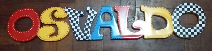 Letras decorativas colores de cars