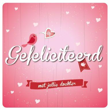 Felicitatie geboorte meisje kaart uit de wenskaartendoos van Miss Olive. Zie http://www.missolive.nl/category/wenskaartendoos