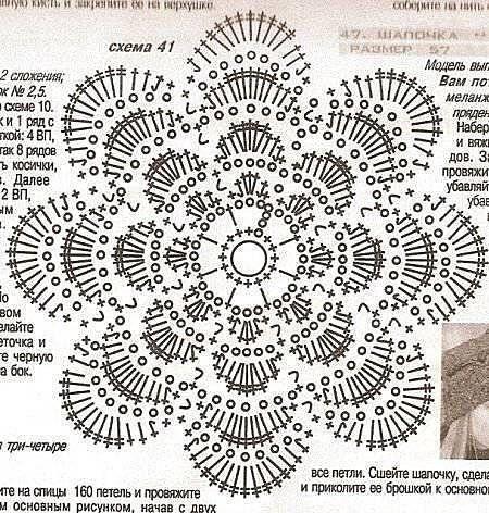 örgü çiçek şeması