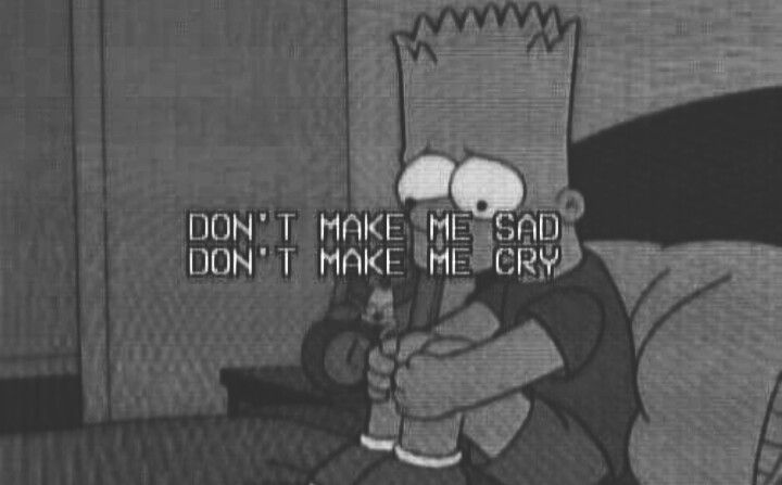 #bart #simpson #sad #cry