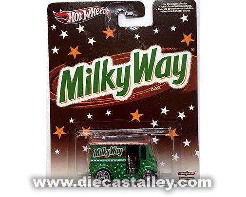 Die Cast Alley - Hot Wheels - 1/64 Pop Culture (Release J) - Mars / Hershey's - Milky Way Bread Box, $5.49 (http://www.diecastalley.com/hot-wheels-1-64-pop-culture-release-j-mars-hersheys-milky-way-bread-box/)