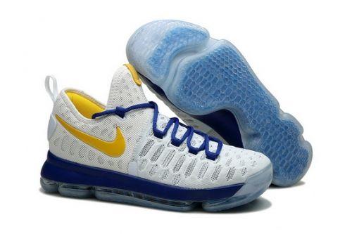2bf53e3cd83 Genuine Nike KD 9 Golden State Warriors White Blue Yellow - Mysecretshoes