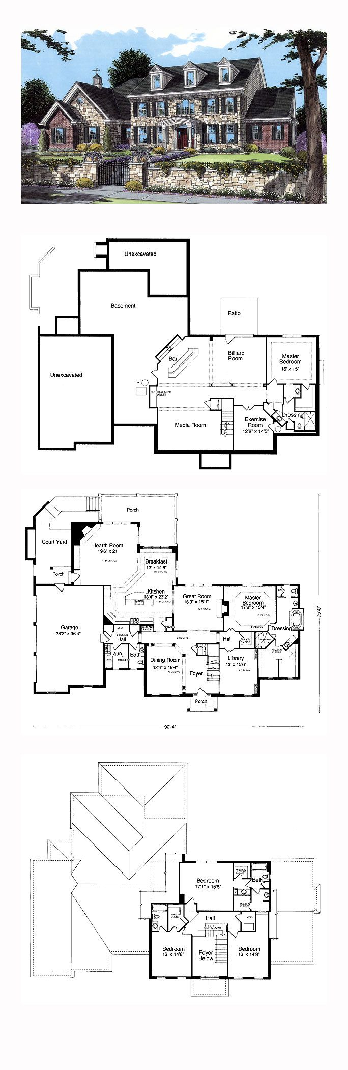 25 best cool house plans ideas on pinterest house layout plans cool house plan id chp 24943 total living area 4222 sq