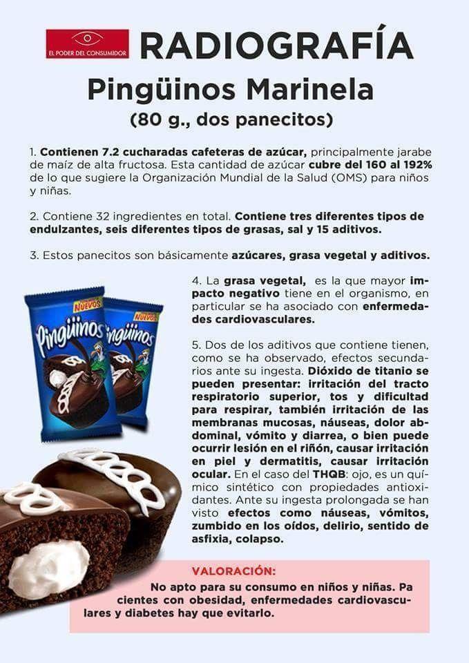Pin De Jeka Saenz En Salud Tips Nutricion Jarabe De Maiz Pinguinos Marinela