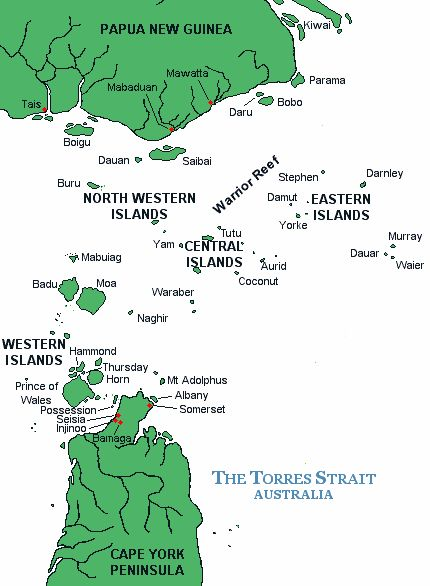 [MAP] Torres Strait Islands, Queensland, Australia