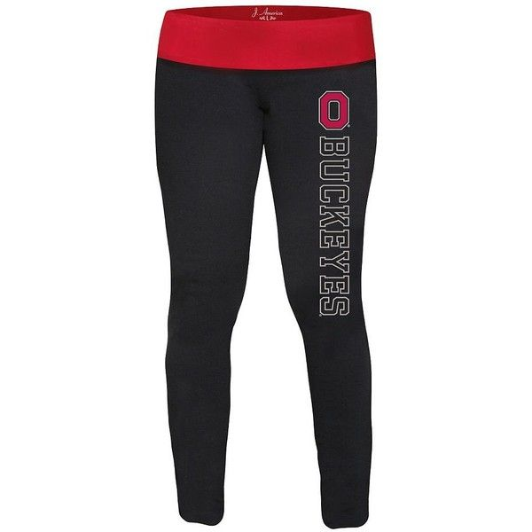 Ohio State Buckeyes Yoga Leggings - Women ($20) ❤ liked on Polyvore featuring leggings