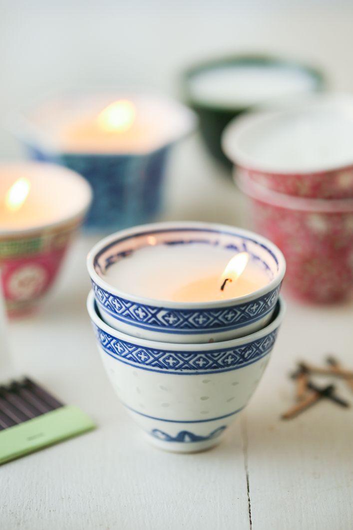 DIY: teacup votives