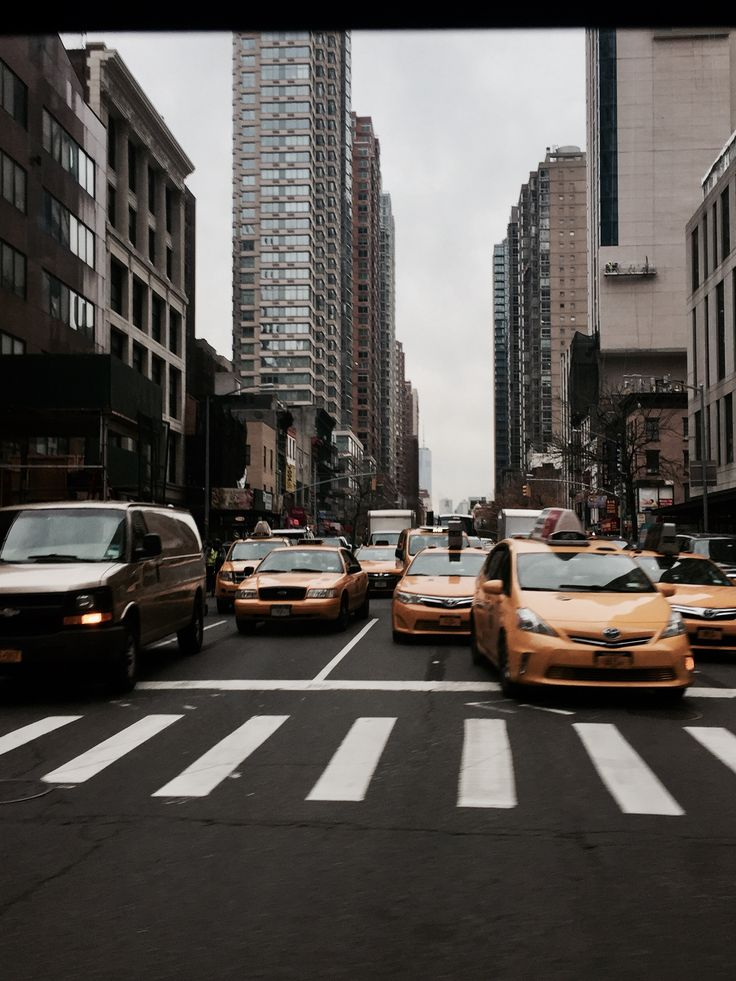 The yellow taxis, New York