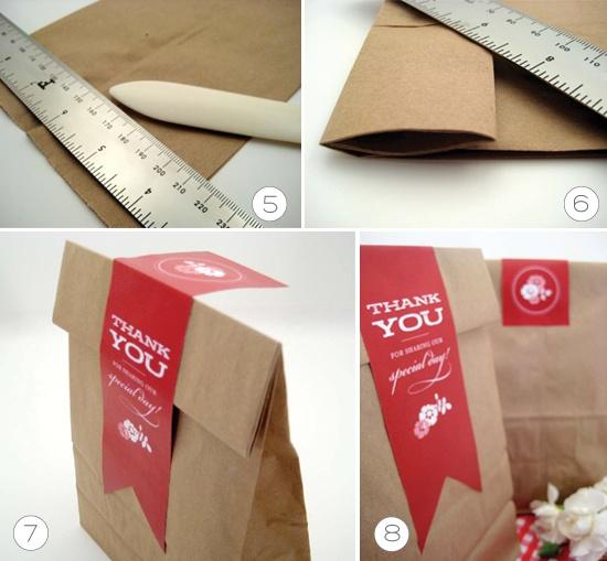 paper bag favor labels