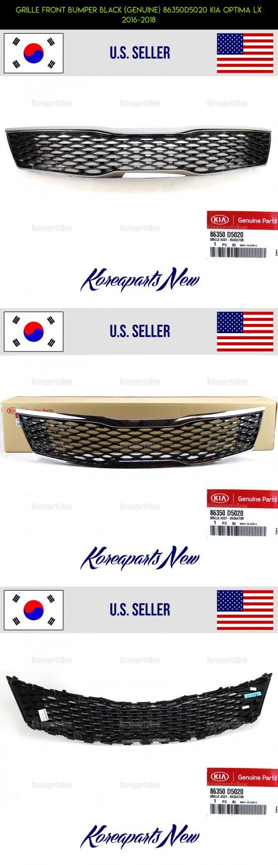 GRILLE FRONT BUMPER BLACK (GENUINE) 86350D5020 KIA OPTIMA LX 2016-2018 #shopping #kit #technology #tech #grills #products #d #racing #gadgets #plans #drone #parts #camera #fpv