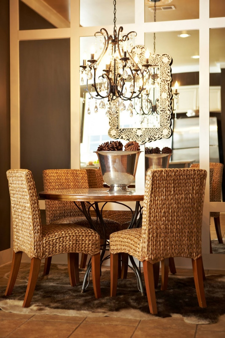 73 best dining areas images on pinterest dining room tables abode love diy tutorial for mirror wall for their dining area glam mixed with naturals stunning
