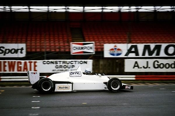 Thierry Tassin - Williams FW08C Cosworth DFV - Peter McIntosh Consultants Motorsport - Silverstone tests - 1985 Pre Season - © Sutton Motorsport Images