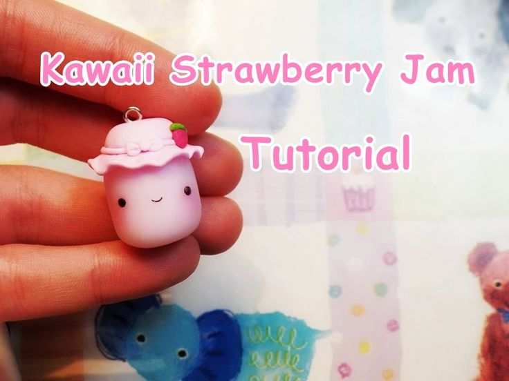 Kawaii Strawberry Jam Polymer Clay Tutorial