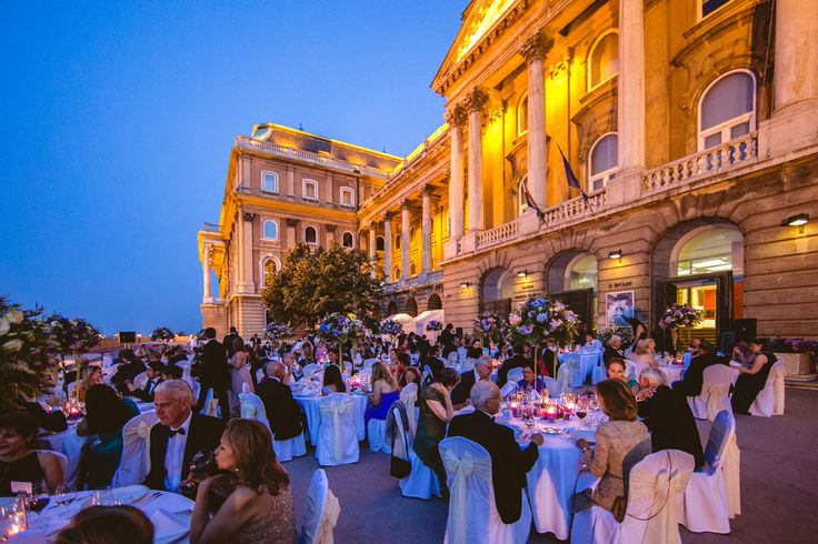 #Budapest #wedding, #Castle district  #ceremony #dinner #reception #hungary #tables