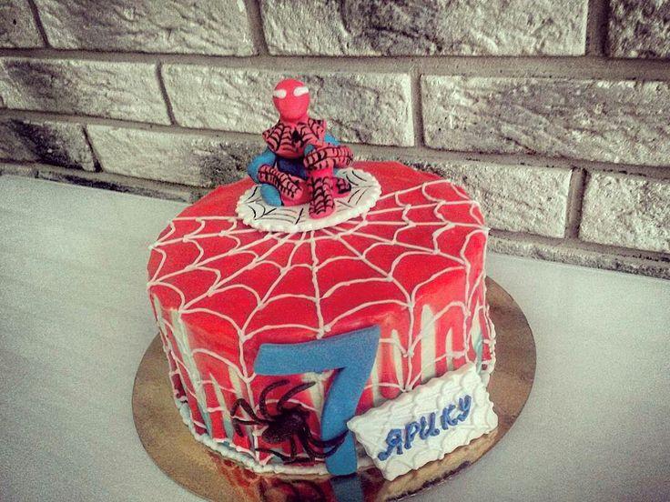 Торт Человек-паук, спайдермэн.