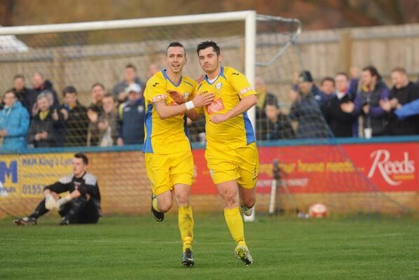 Rob Duffy scoring vs Witton Albion 16/11 King's Lynn Town FC