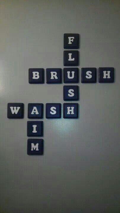 Cute, subtle reminder for a child's bathroom