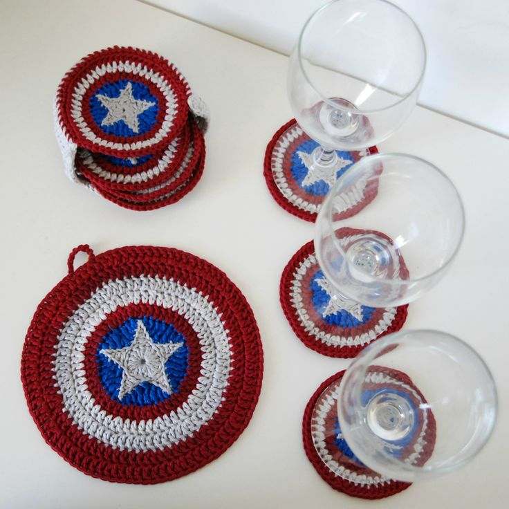 Show your love of comics and America with these Captain America shield coasters. You're 4th of July Picnic BBQ will never be the same.