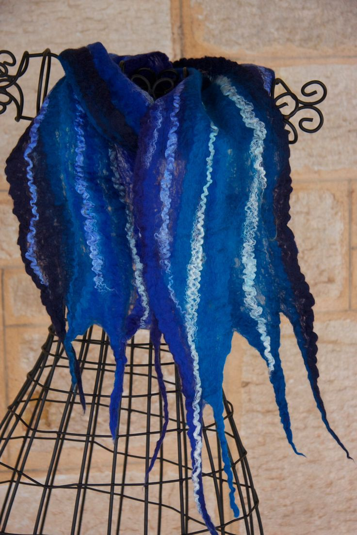 A personal favorite from my Etsy shop https://www.etsy.com/listing/236211734/pretty-blue-cobweb-scarf-in-merino-wool