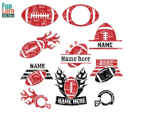 Football MonogramsFootball SVG Cut Files Monogram by FunLurnSVG
