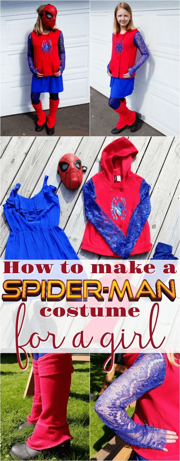 Spider-Man costume for girls | How to make a Spiderman costume | DIY | homemade | kids | Halloween | women | Home made Spider Man costume for girls | DIY cosplay | DIY Marvel costumes for girls