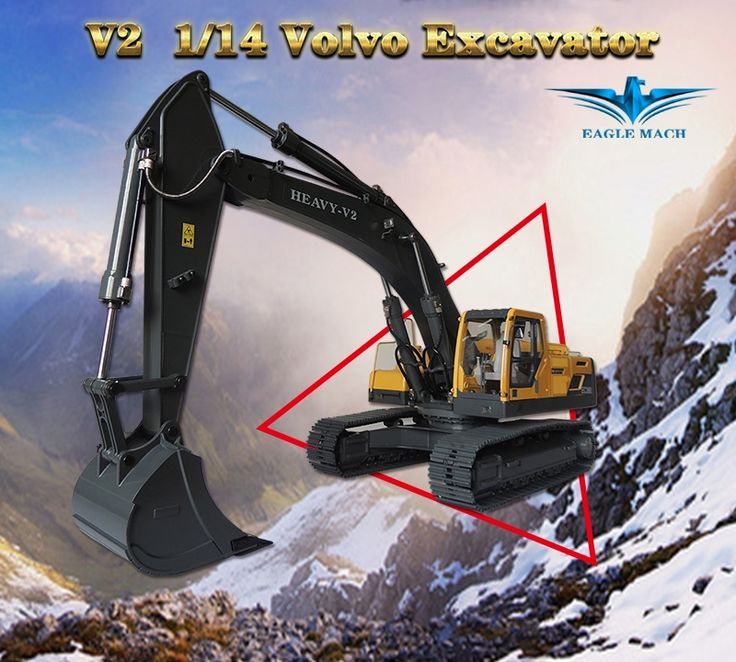 2698.00$  Watch now - http://ali2nu.worldwells.pw/go.php?t=32772639444 - 1/14 Scale Volvo RC Hydraulic Excavator 2.0 Version(1/14 Earth Digger 360L Hydraulic Excavator)