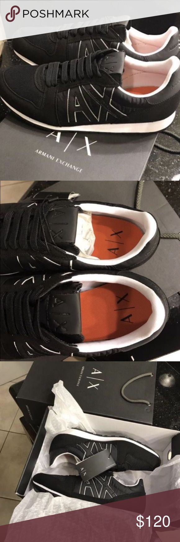 ARMANI SNICKERS BRAND NEW ARMANI SNICKERS. NEVER USED WITH TAGS AND BOX. SIZE 10 US MEN. AUTHENTIC ARMANI EXCHANGE A/X Armani Exchange Shoes Sneakers