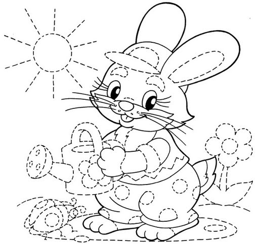 Best 25 Bunny Coloring Pages Ideas On Pinterest